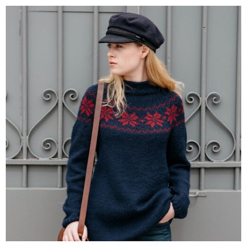 Patron : Le pull Jacquard Teddy | Mamy Factory
