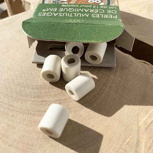 Boîtes de 15 perles de céramique   Chamarrel