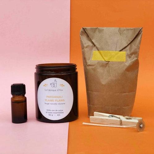 Kit DIY pour bougie Patchoulie & Ylang-Ylang | La Fabrique d'Alix