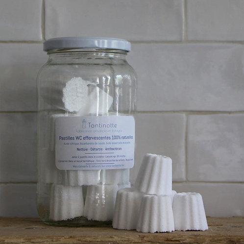 Bocal de 18 pastilles WC effervescentes   Tantinotte