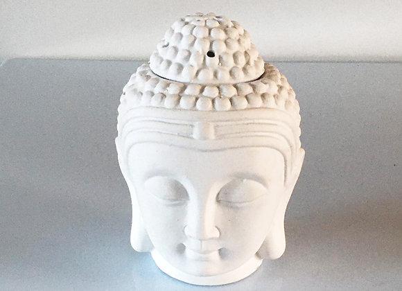 Waxmeltbrander Buddha wit