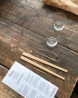 Inhoud DIY pakket kaarsen van Benieuwen.