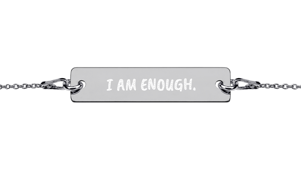 "Mantra Bracelet ""I am enough"""
