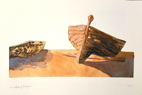 Old tuna fishing hulls
