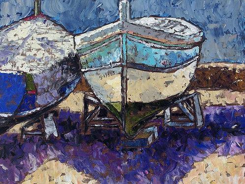 Two boats - plein air version