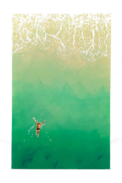 Swimming to shore