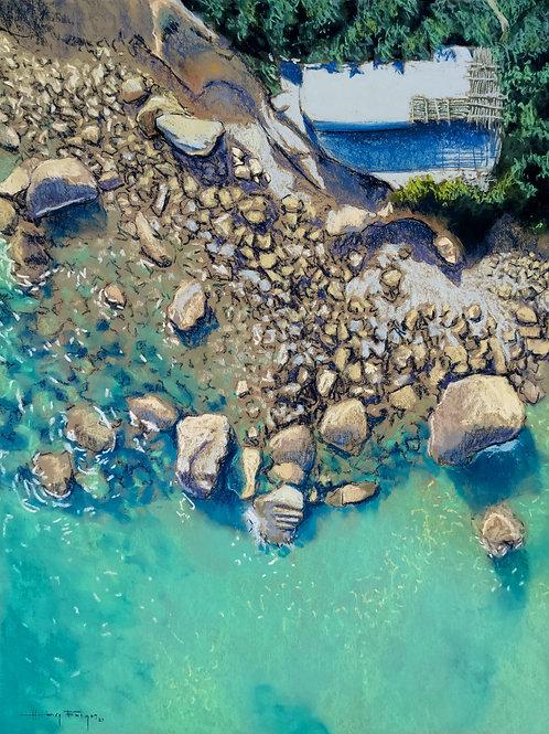 Sea - Hut - Cliffs