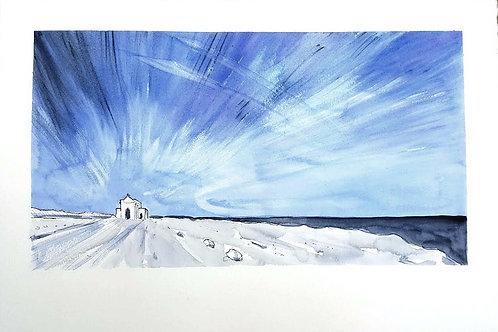Ahrax chapel in Winter