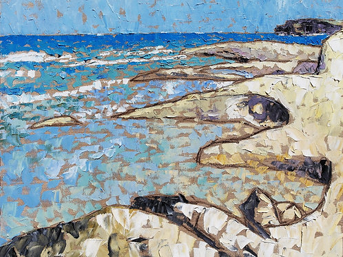 Rugged limestone coast
