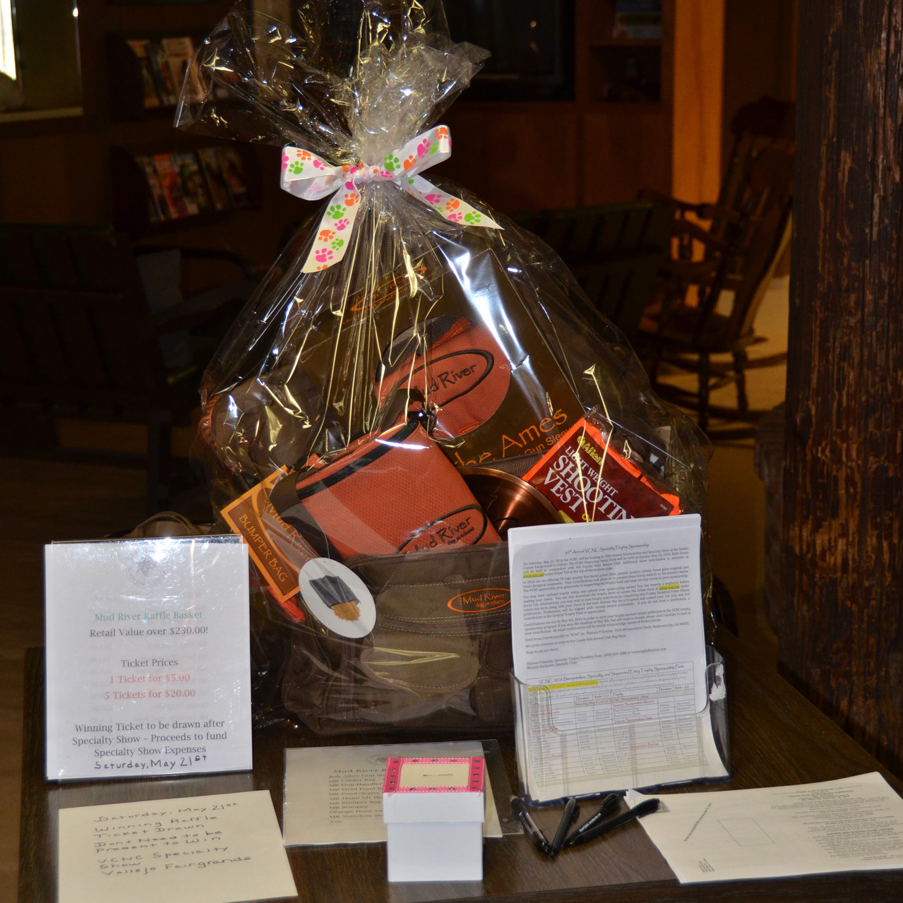 Specialty event's ruffle grand prize