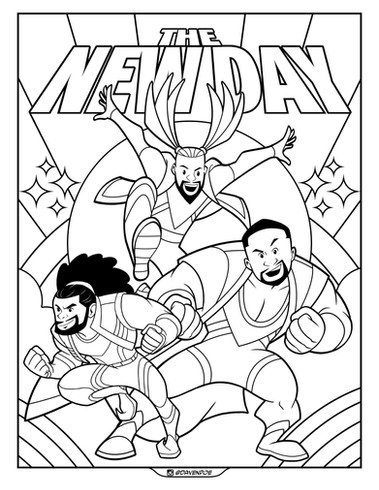 The New Day Coloring Page by Davenpoe