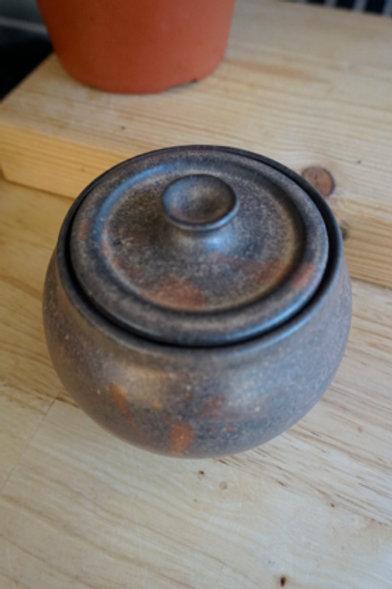 Lidded Jar - Shades of Brown