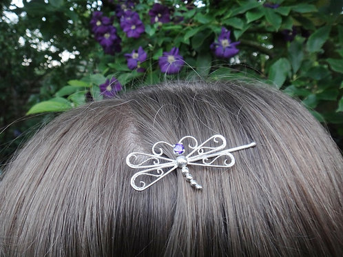 Dragonfly bobby pin