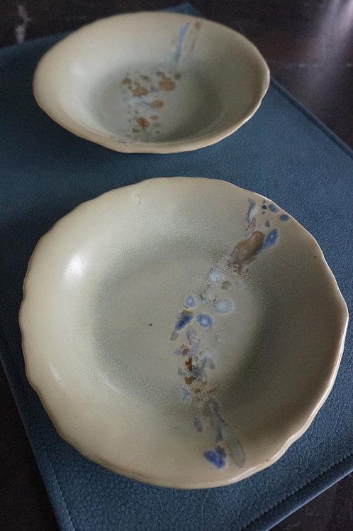 Ravioli Plates - Green Spark - Set of 2