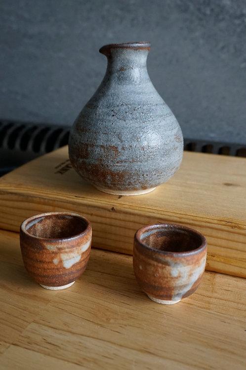 Sake Set - Faux Shino - 3 pcs