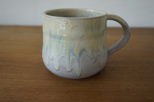 Large Mug - Cream Drips