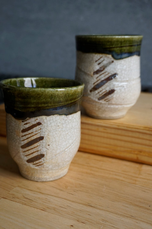 Japanese Tea Cup - Oribe
