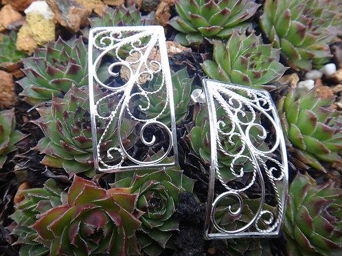 Silver Wysteria Earrings
