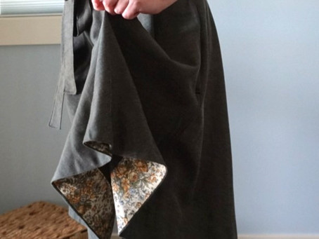 My Favourite Way to Hem a Circle Skirt + Free Bias Hem Ruler for the Coquelicot skirt
