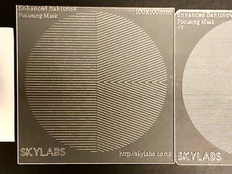 Comparing different focusing masks for camera lenses.