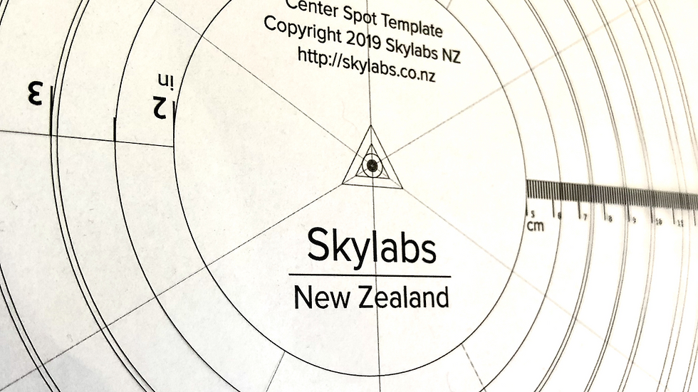 Skylabs Mirror Spotting Template and Center Spots