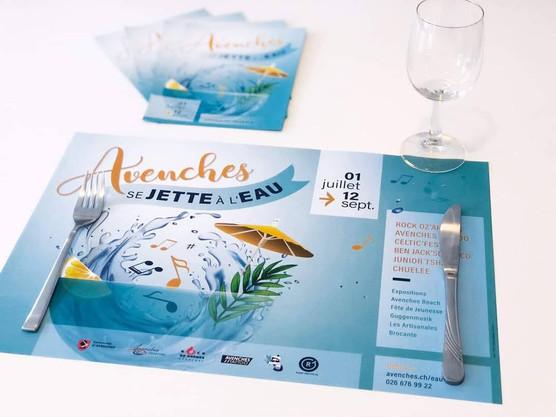 Set de table - Avenches se jette à l'eau
