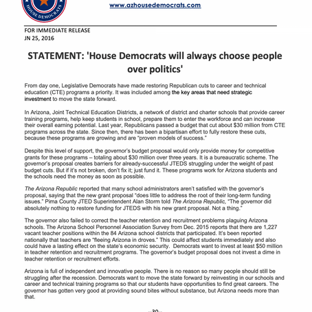 House Democrats will always choose people over politics