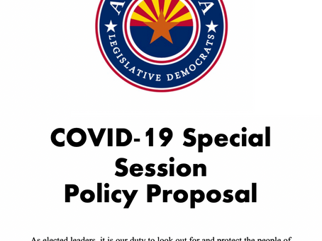 COVID-19 Special Session Policy Proposal