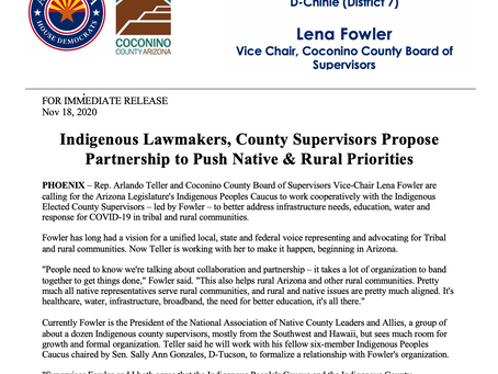 Indigenous Lawmakers, County Supervisors Propose Partnership to Push Native & Rural Issues