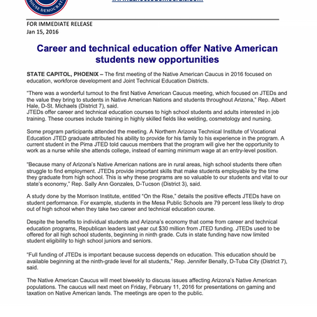 Career and technical education offer Native American students new opportunities