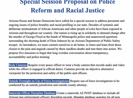 Special Session Proposal on Police Reform and Racial Justice