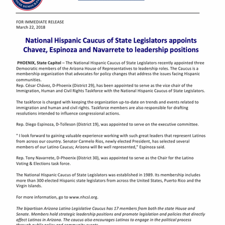 NHCSL appoints Chavez, Espinoza and Navarrete to leadership positions