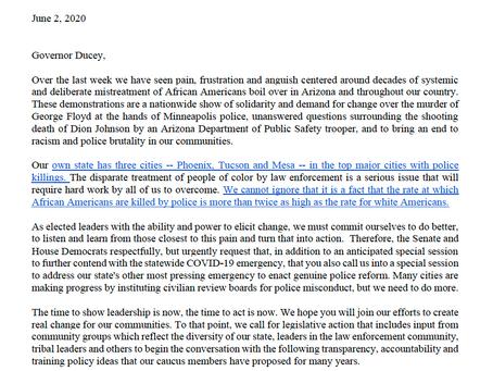 Legislative Democrats call for special session for police reform