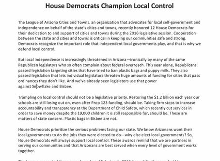 House Democrats Champion Local Control