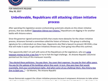 Unbelievable, Republicans still attacking citizen initiative process
