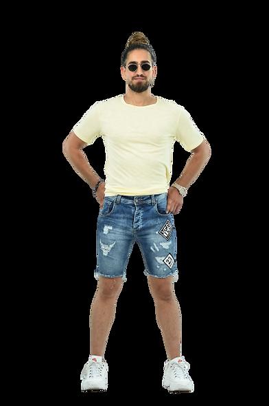 Patch Short Jeans