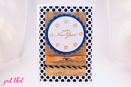Happy New Year! Gold Glitter Card