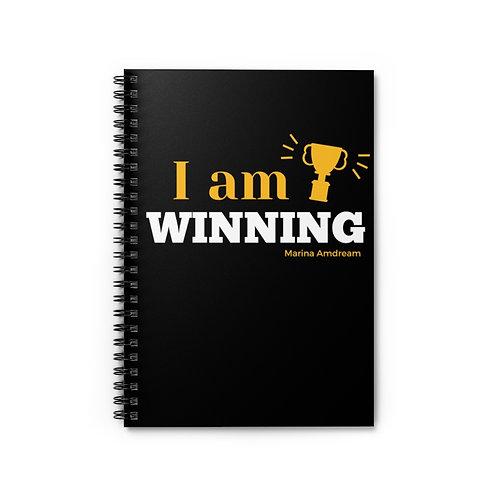 I Am Winning Spiral Notebook - Ruled Line