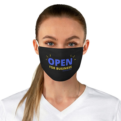 Open For Business Face Mask