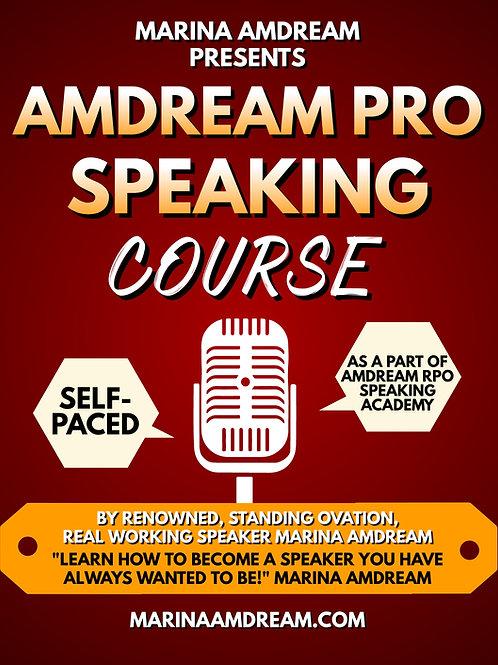 AMDREAM PRO SPEAKING COURSE