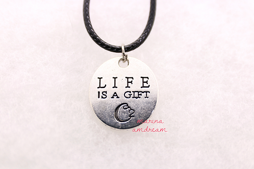 Two Sided Life Is A Gift Necklace