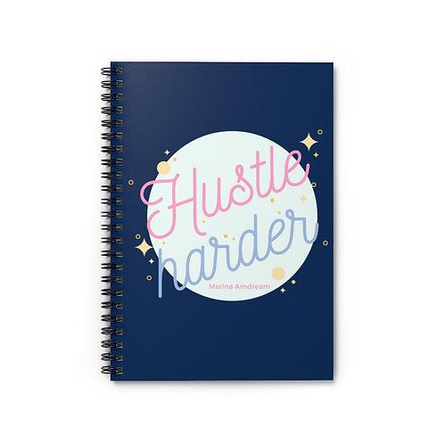 Hustle Harder Spiral Notebook - Ruled Line