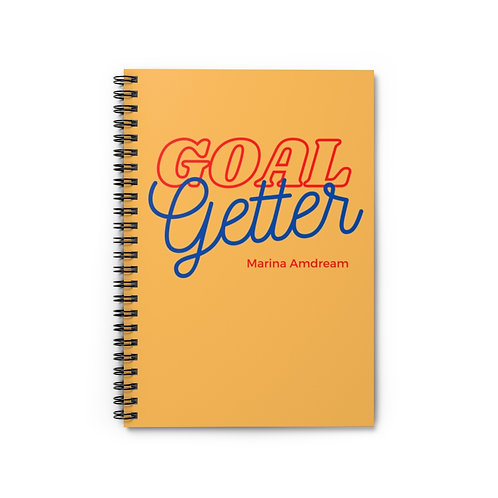 Goal Getter Spiral Notebook - Ruled Line