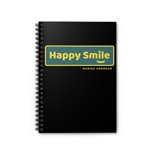 Happy Smile Spiral Notebook - Ruled Line