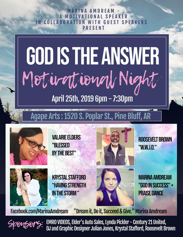 God Is The Answer Motivational Night