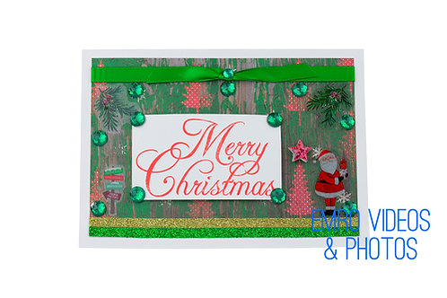 Merry Christmas Green & Red Card