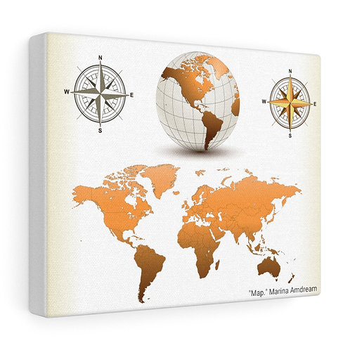 Map Canvas Gallery Wraps