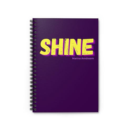 Shine Spiral Notebook - Ruled Line