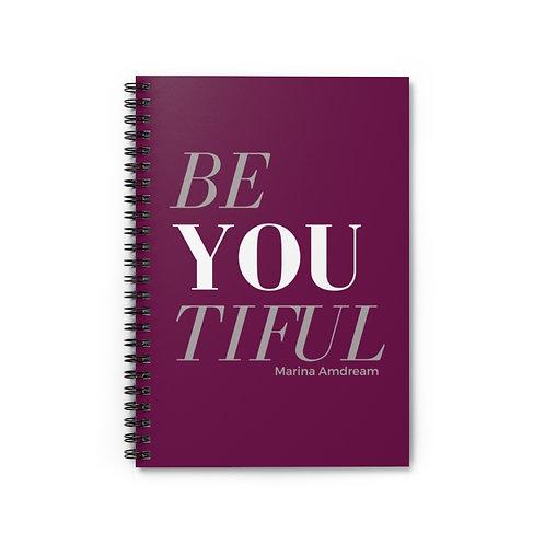 BeYoutiful Spiral Notebook - Ruled Line
