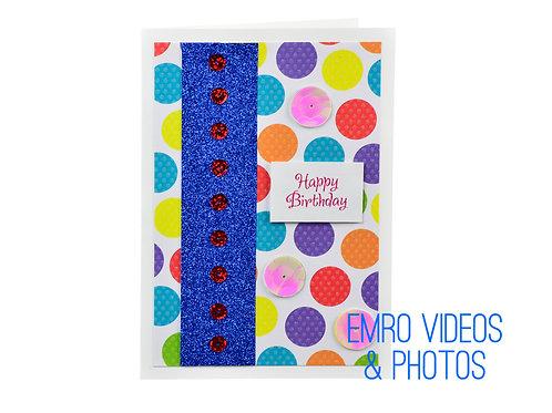 Rainbow Blue Birthday Card